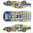 NASCAR Paint Scheme Design Kenny Wallace