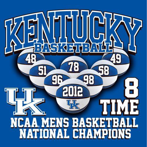 2012 Kentucky National Championship T-shirt Design